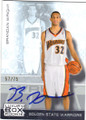 BRANDAN WRIGHT GOLDEN STATE WARRIORS AUTOGRAPHED & NUMBERED ROOKIE BASKETBALL CARD #70915C