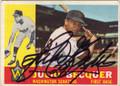 JULIO BECQUER WASHINGTON SENATORS AUTOGRAPHED VINTAGE BASEBALL CARD #71315E