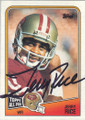 JERRY RICE SAN FRANCISCO 49ers AUTOGRAPHED VINTAGE FOOTBALL CARD #71315L