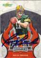 BRIAN BROHM GREEN BAY PACKERS AUTOGRAPHED ROOKIE FOOTBALL CARD #71315O