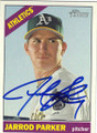 JARROD PARKER OAKLAND ATHLETICS AUTOGRAPHED BASEBALL CARD #71415F