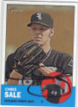 CHRIS SALE CHICAGO WHITE SOX AUTOGRAPHED BASEBALL CARD #71415i