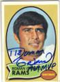ROMAN GABRIEL LOS ANGELES RAMS AUTOGRAPHED VINTAGE FOOTBALL CARD #71415N