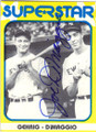 JOE DiMAGGIO NEW YORK YANKEES AUTOGRAPHED VINTAGE BASEBALL CARD #71515E