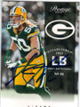 AJ HAWK GREEN BAY PACKERS AUTOGRAPHED FOOTBALL CARD #71715C