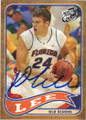 DAVID LEE UNIVERSITY OF FLORIDA GATORS AUTOGRAPHED ROOKIE BASKETBALL CARD #71715E