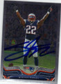 STEVAN RIDLEY NEW ENGLAND PATRIOTS AUTOGRAPHED FOOTBALL CARD #71715G
