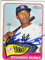 EDUARDO NUNEZ NEW YORK YANKEES AUTOGRAPHED BASEBALL CARD #71815G