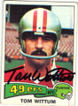 TOM WITTUM SAN FRANCISCO 49ers AUTOGRAPHED VINTAGE FOOTBALL CARD #71915A