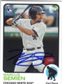 MARCUS SEMIEN CHICAGO WHITE SOX AUTOGRAPHED ROOKIE BASEBALL CARD #72115A