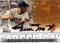 WILLIE MAYS SAN FRANCISCO GIANTS AUTOGRAPHED BASEBALL CARD #72115C