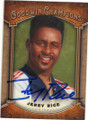 JERRY RICE SAN FRANCISCO 49ers AUTOGRAPHED VINTAGE FOOTBALL CARD #72115i