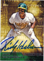 RICKEY HENDERSON OAKLAND ATHLETICS AUTOGRAPHED BASEBALL CARD #72115J