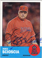 MIKE SCIOSCIA LOS ANGELES ANGELS OF ANAHEIM AUTOGRAPHED BASEBALL CARD #72215A