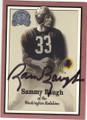 SAMMY BAUGH WASHINGTON REDSKINS AUTOGRAPHED FOOTBALL CARD #72215C