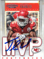 JAMAAL CHARLES KANSAS CITY CHIEFS AUTOGRAPHED FOOTBALL CARD #72715C
