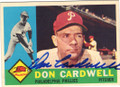 DON CARDWELL PHILADELPHIA PHILLIES AUTOGRAPHED VINTAGE BASEBALL CARD #72715E