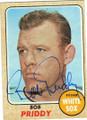 BOB PRIDDY CHICAGO WHITE SOX AUTOGRAPHED VINTAGE BASEBALL CARD #72715G