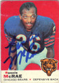 BENNIE McRAE CHICAGO BEARS AUTOGRAPHED VINTAGE FOOTBALL CARD #72915D