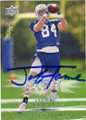 JACOB TAMME INDIANAPOLIS COLTS AUTOGRAPHED ROOKIE FOOTBALL CARD #72915G