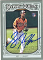 LJ HOES BALTIMORE ORIOLES AUTOGRAPHED ROOKIE BASEBALL CARD #73015B