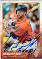 BRANDON BELT SAN FRANCISCO GIANTS AUTOGRAPHED BASEBALL CARD #73115E