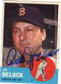 IKE DELOCK BOSTON RED SOX AUTOGRAPHED VINTAGE BASEBALL CARD #73115H