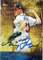 GREG MADDUX ATLANTA BRAVES AUTOGRAPHED BASEBALL CARD #81215G