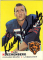 RUDY KUECHENBERG CHICAGO BEARS AUTOGRAPHED VINTAGE ROOKIE FOOTBALL CARD #81215J