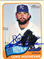 LUKE HOCHEVAR KANSAS CITY ROYALS AUTOGRAPHED BASEBALL CARD #81415C