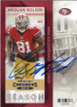ANQUAN BOLDIN SAN FRANCISCO 49ers AUTOGRAPHED FOOTBALL CARD #81815E