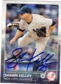 SHAWN KELLEY NEW YORK YANKEES AUTOGRAPHED BASEBALL CARD #81815F