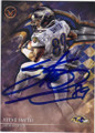 STEVE SMITH BALTIMORE RAVENS AUTOGRAPHED FOOTBALL CARD #81915E