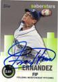 FELIX HERNANDEZ SEATTLE MARINERS AUTOGRAPHED BASEBALL CARD #82315A