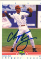 CHIPPER JONES DURHAM BULLS AUTOGRAPHED ROOKIE BASEBALL CARD #82415B