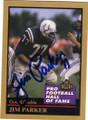 JIM PARKER BALTIMORE COLTS AUTOGRAPHED FOOTBALL CARD #82415C