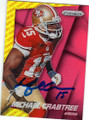 MICHAEL CRABTREE SAN FRANCISCO 49ers AUTOGRAPHED FOOTBALL CARD #82515A