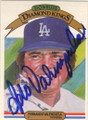 FERNANDO VALENZUELA LOS ANGELES DODGERS AUTOGRAPHED VINTAGE BASEBALL CARD #82715D