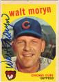 WALT MORYN CHICAGO CUBS AUTOGRAPHED VINTAGE BASEBALL CARD #82915D