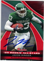 JAVON RINGER MICHIGAN STATE AUTOGRAPHED ROOKIE FOOTBALL CARD #83115F