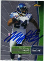 MARSHAWN LYNCH SEATTLE SEAHAWKS AUTOGRAPHED FOOTBALL CARD #90115D