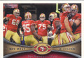 SAN FRANCISCO 49ers TEAM FOOTBALL CARD #90115G
