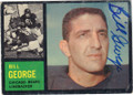 BILL GEORGE CHICAGO BEARS AUTOGRAPHED VINTAGE FOOTBALL CARD #90315E
