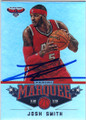 JOSH SMITH ATLANTA HAWKS AUTOGRAPHED BASKETBALL CARD #90415H