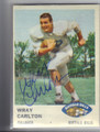WRAY CARLTON BUFFALO BILLS AUTOGRAPHED VINTAGE ROOKIE FOOTBALL CARD #91115A