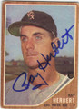 RAY HERBERT CHICAGO WHITE SOX AUTOGRAPHED VINTAGE BASEBALL CARD #91115D