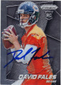 DAVID FALES CHICAGO BEARS AUTOGRAPHED ROOKIE FOOTBALL CARD #91415B