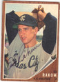 ED RAKOW KANSAS CITY ATHLETICS AUTOGRAPHED VINTAGE BASEBALL CARD #91415D