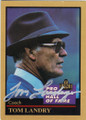 TOM LANDRY DALLAS COWBOYS AUTOGRAPHED FOOTBALL CARD #91515B