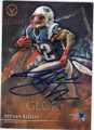 STEVAN RIDLEY NEW ENGLAND PATRIOTS AUTOGRAPHED & NUMBERED FOOTBALL CARD #100215A